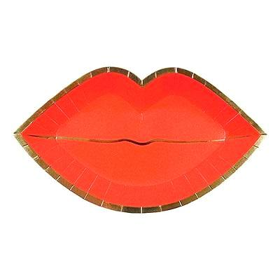 Red Lips Plates (8 pack)