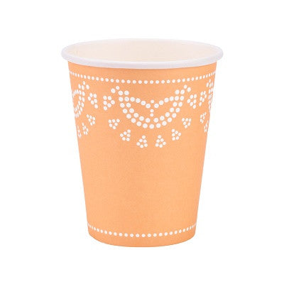 Apricot Lovely Lace Cups (10 pack)