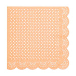 Apricot Lovely Lace Cocktail Napkins (20 pack)