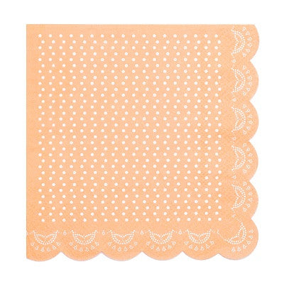 Apricot Lovely Lace Napkins (20 pack)
