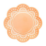 Apricot Lovely Lace Plates (10 pack)