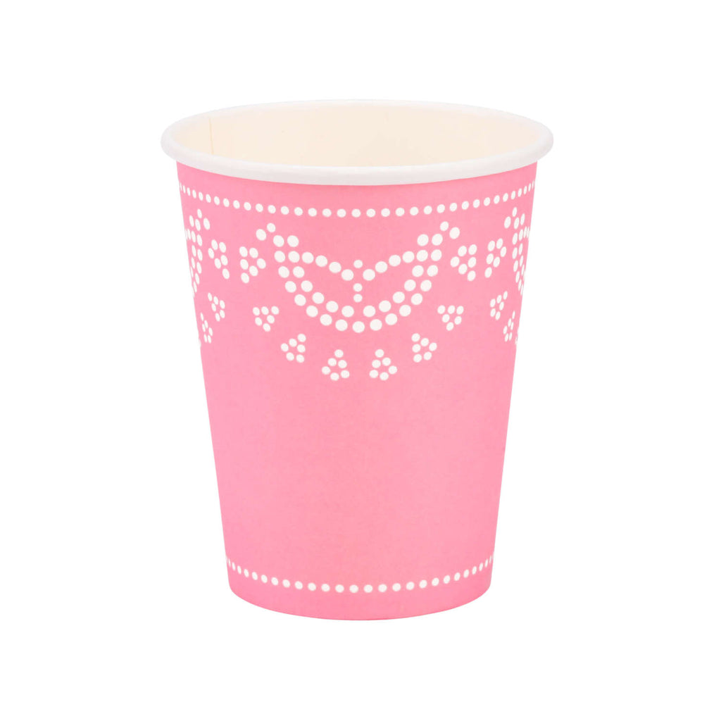 Pink Lovely Lace Cups (10 pack)