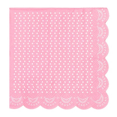 Pink Lovely Lace Cocktail Napkins (20 pack)