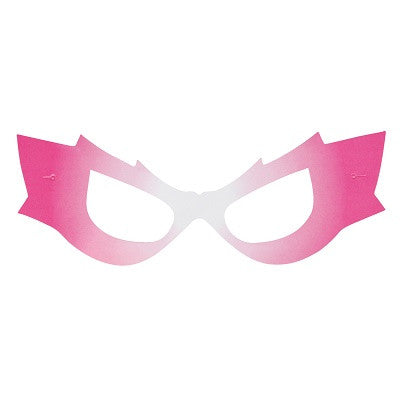 Pink Superhero Masks (8 pack)