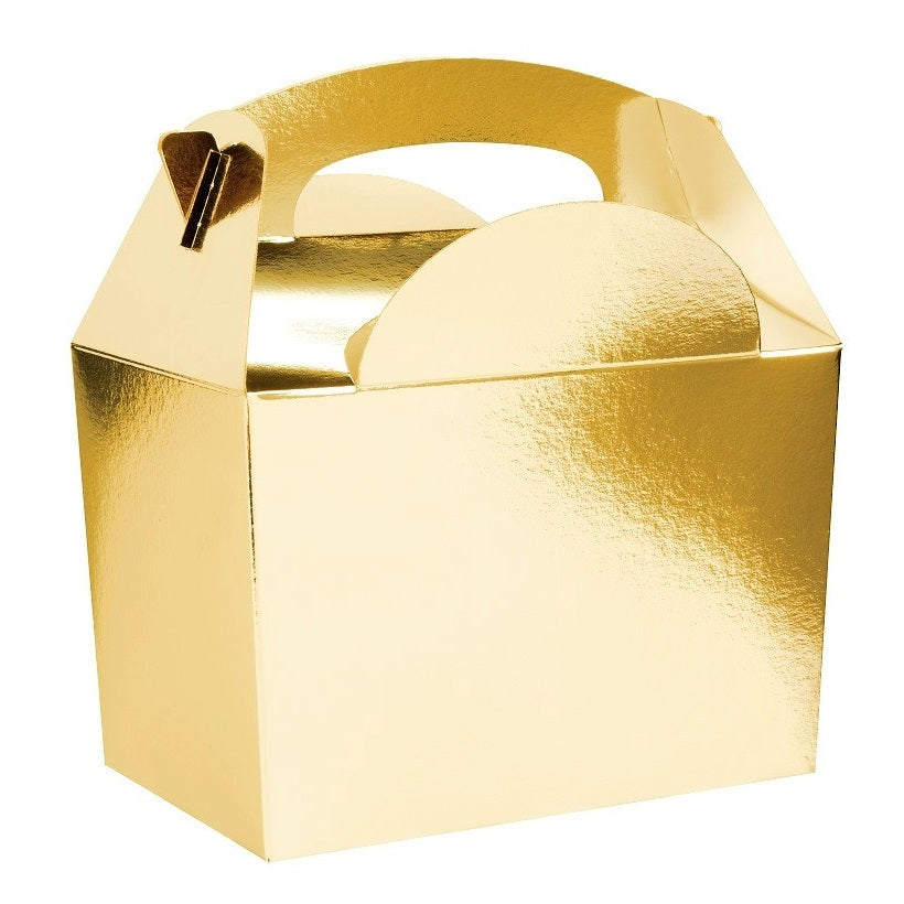 Gold Gable Party Boxes (5 pack)