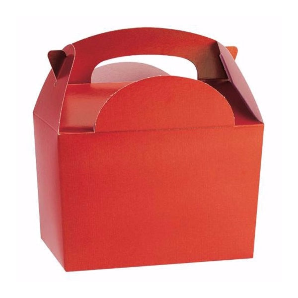 Red Gable Party Boxes (5 pack)