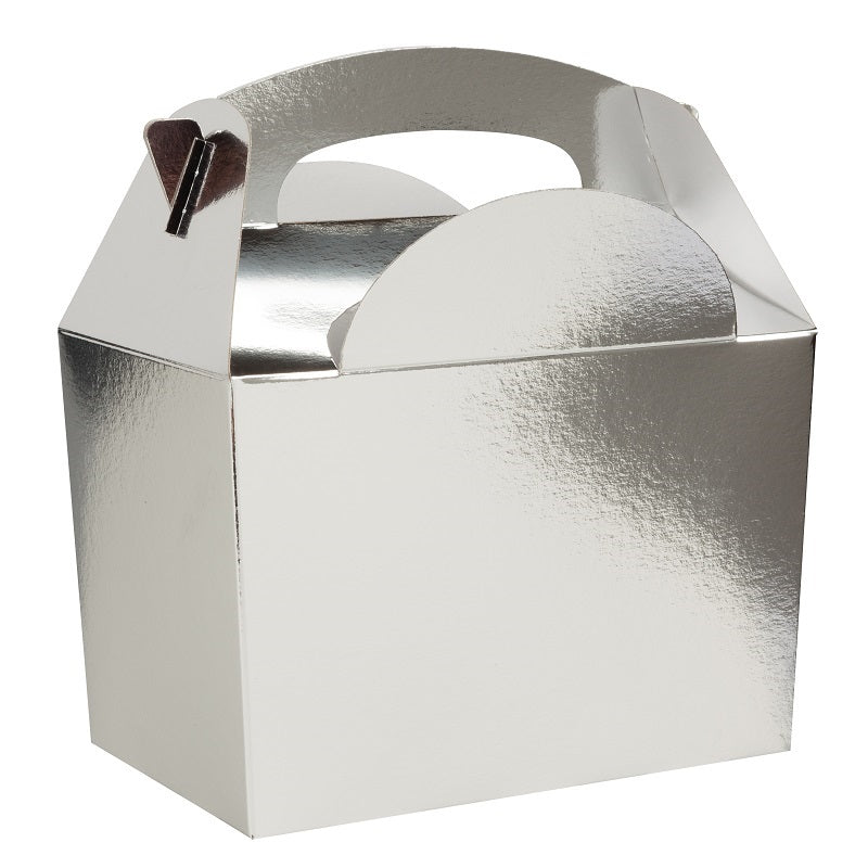 Silver Gable Party Boxes (5 pack)