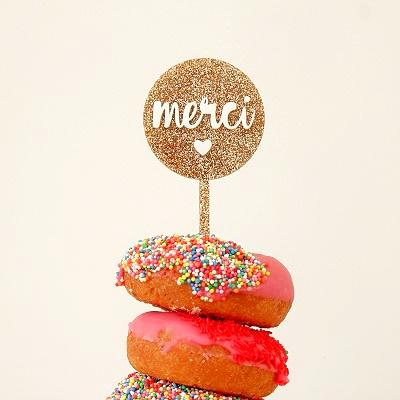 Merci Cake Topper