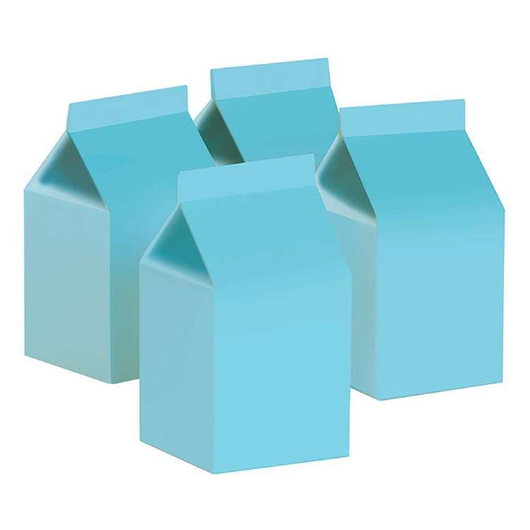 Pastel Blue Milk Boxes (10 pack)