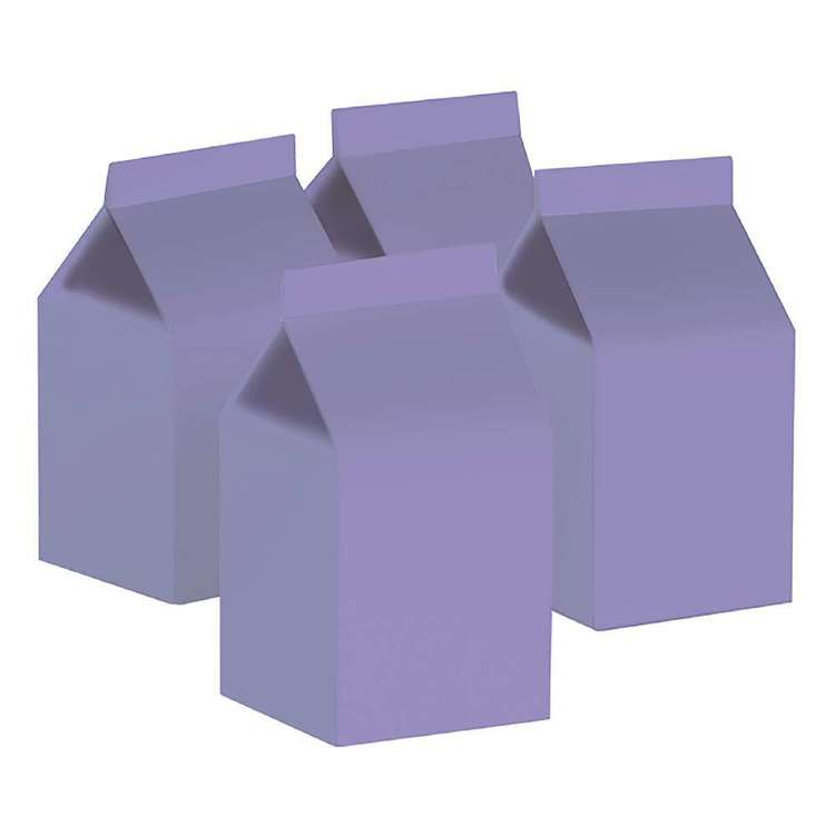 Pastel Lilac Milk Boxes (10 pack)