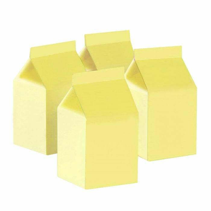 Pastel Yellow Milk Boxes (10 pack)