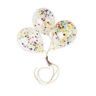 Mini Confetti Balloons (3 pack)