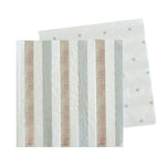 Silver Stripes & Dots Cocktail Napkins (20 pack)