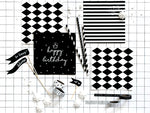 Black & White Striped Napkins (20 pack)