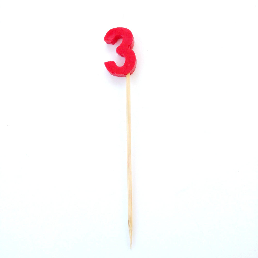 Red Number Candle (0-9)