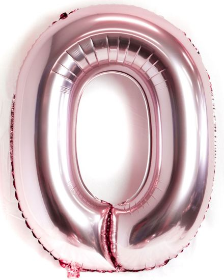 Metallic Pale Pink Giant Number Balloons (3 & 0 left!)