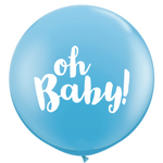 Blue Oh Baby Giant 90cm Balloon