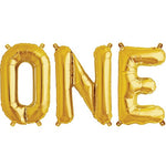 Gold 'ONE' Balloons