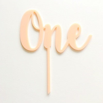Pink One Cake Topper