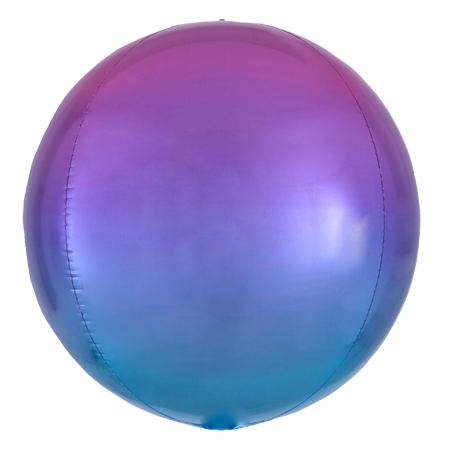 Ombre Purple Blue Orbz Balloon