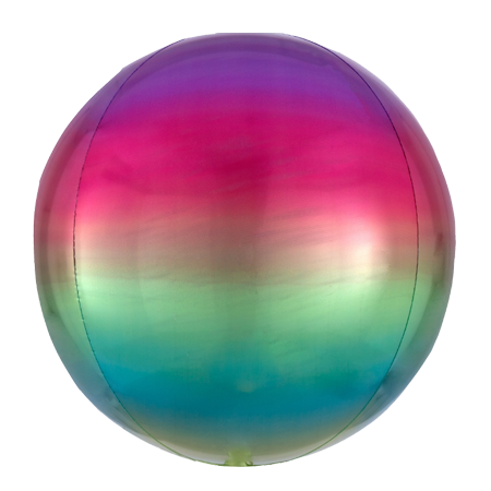 Ombre Rainbow Orbz Balloon