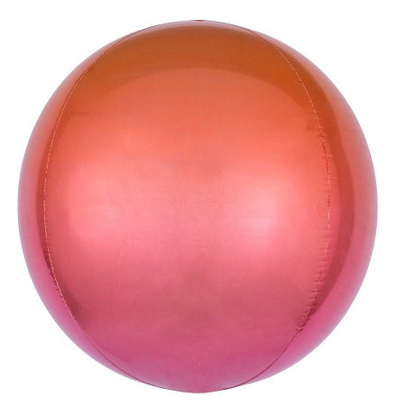 Ombre Red Orange Orbz Balloon