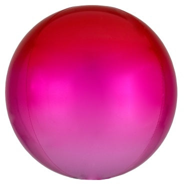 Ombre Red Pink Orbz Balloon