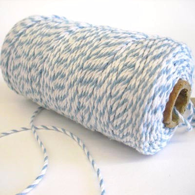 Pale Blue & White Bakers Twine (100m)