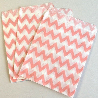 Pale Pink Chevron Party Bags (10 pack)