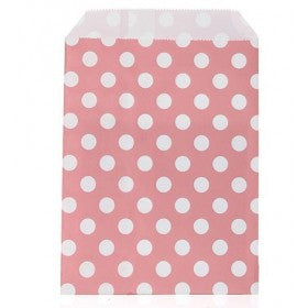 Pale Pink Dot Party Bags (10 pack)