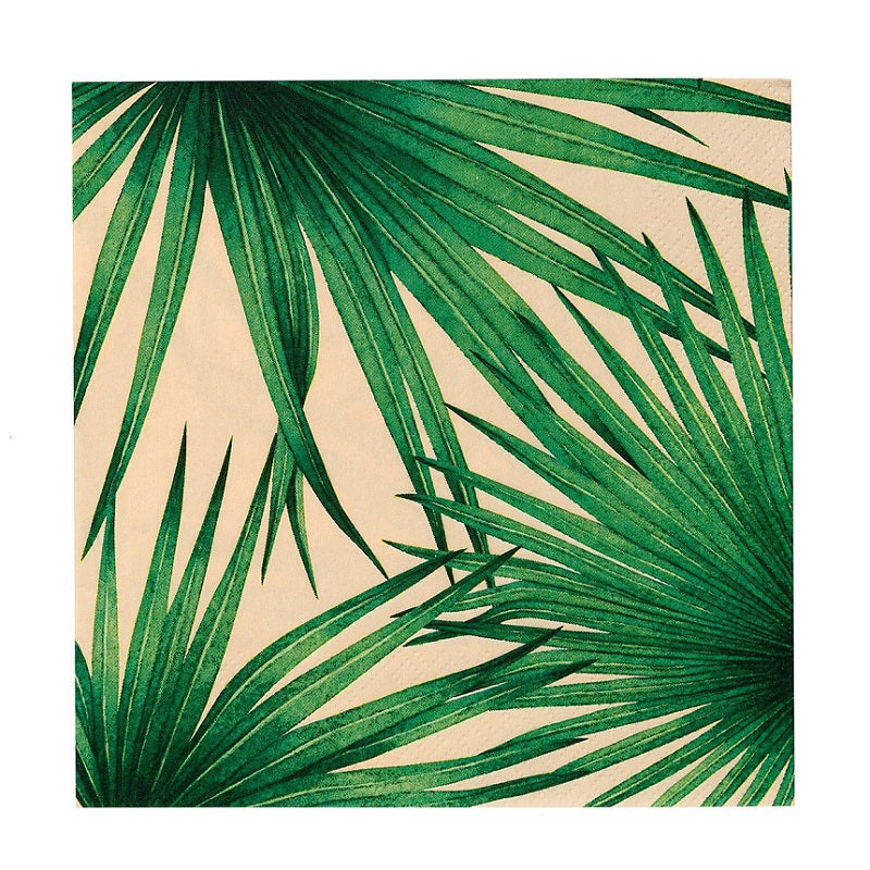 Tropical Palm Blush Napkins (20 pack)