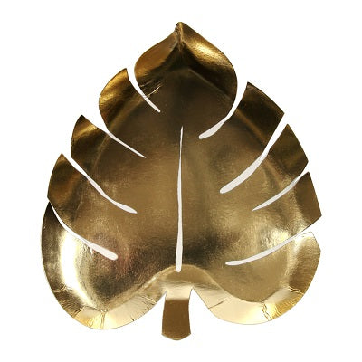 Gold Palm Leaf Plates (8 pack)