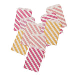 Pink Shimmer Stripe Party Bags (10 pack)