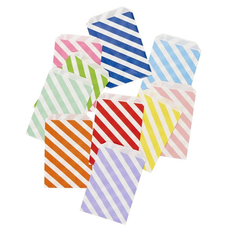 Rainbow Stripe Party Bags (10 pack)
