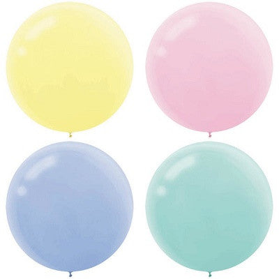 Pastel 60cm Round Balloons (4 pack)