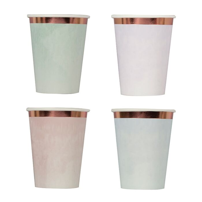 Pastel Watercolour Cups (8 pack)