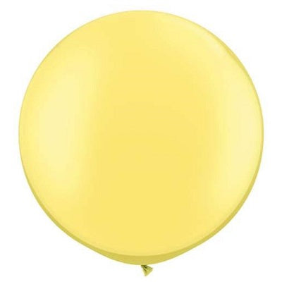 Pearl Lemon Giant 75cm Round Balloon