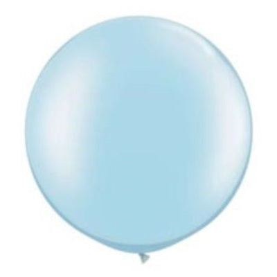 Pearl Light Blue Giant 75cm Round Balloon