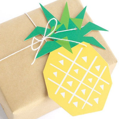 Geo Pineapple Tags (6 pack)