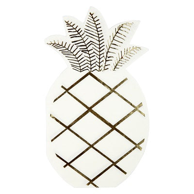 Gold Pineapple Napkins (16 pack)