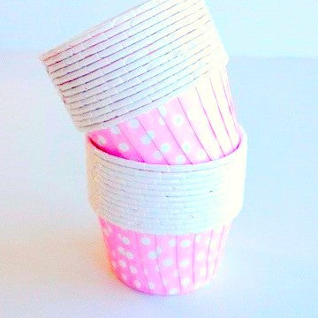 Candy Pink Dot Baking Cups (25 pack)