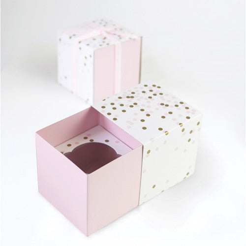 Pink Confetti Cupcake Gift Boxes (6 pack)
