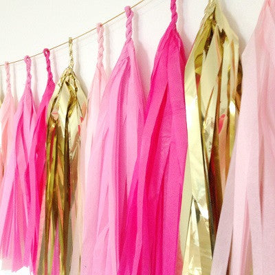 Pretty in Pink Tassel Garland