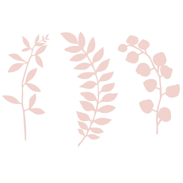 Powder Pink Paper Leaves (9 pack)