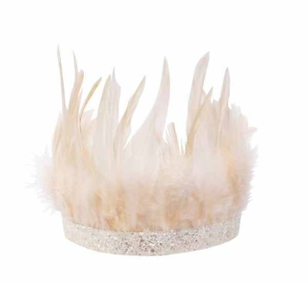 Blush Feather Party Crown
