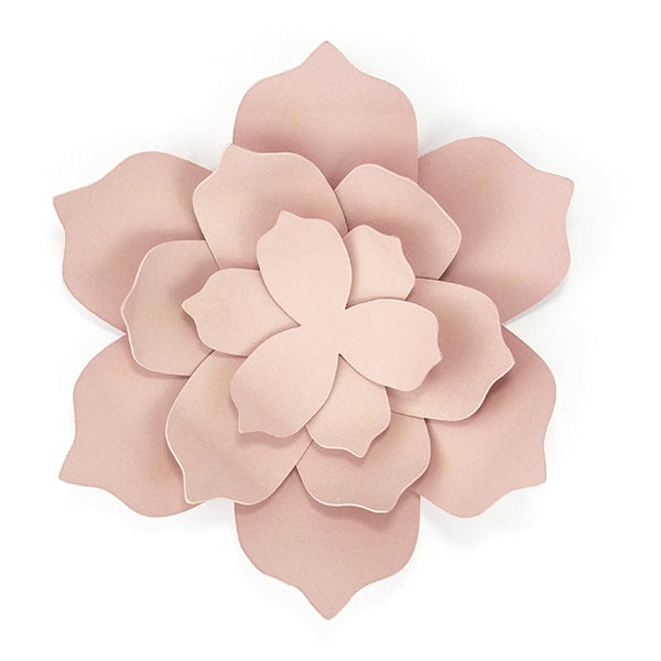 Powder Pink Flowers Large (3 pack)
