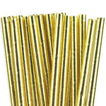 Gold Foil Straws (25 pack)