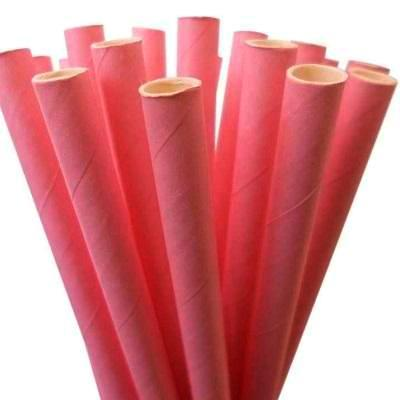 Candy Pink Straws (25 pack)