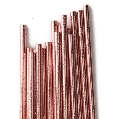 Rose Gold Foil Straws (25 pack)