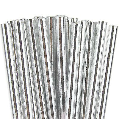 Silver Foil Straws (25 pack)